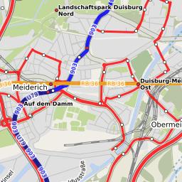 DUMH U18Verlngerung nach Duisburg Hbf Linie Plus Extern