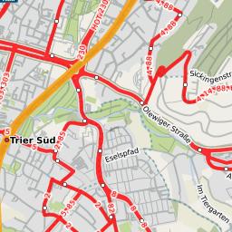 Straenbahn Trier HbfTalforst Linie Plus Extern